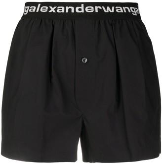 Alexander Wang Logo Shorts