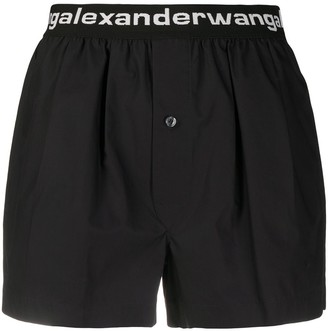 T By Alexander Wang Logo Shorts