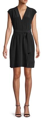 L'Agence Carina Pleated Silk Shift Dress