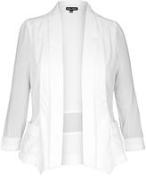 City Chic Ivory Drapey Blazer Jacket