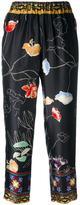 Forte Forte floral print trousers - women - Silk/Cupro - III
