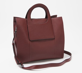Vince Camuto Large Leather Tote with Crossbody Strap - Beck