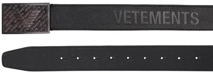 Vetements 35mm Embossed Leather Belt