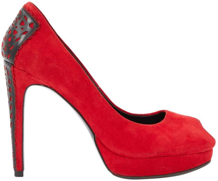 Reiss Red Suede Heels