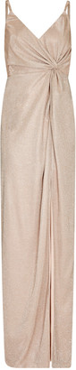 Aidan Mattox Metallic Knit Twist Dress