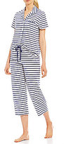 Karen Neuburger Striped Capri Pajamas