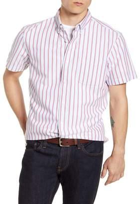 1901 Trim Fit Stripe Short Sleeve Button-Down Shirt
