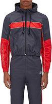 Vetements Men's Tech-Fabric Shrunken Zip-Front Hooded Jacket