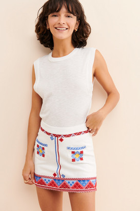 Urban Outfitters Pippa Embroidered Mini Skirt