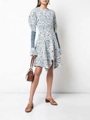 Chloé Handkerchief Hem Dress
