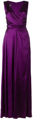 Talbot Runhof Crepe Satin Long Dress