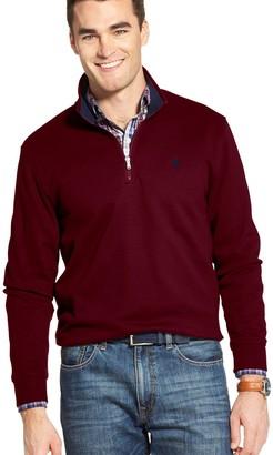 Izod Men's Sportswear Advantage SportFlex Classic-Fit Performance Fleece Quarter-Zip Pullover