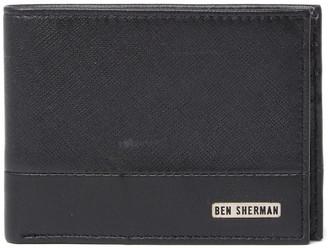 Ben Sherman Full Grain Cowhide Smooth Leather Bi-Fold Wallet