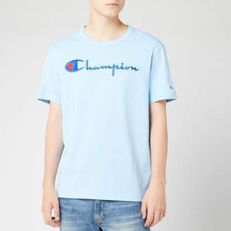 Champion Men's Big Script Crew Neck T-Shirt