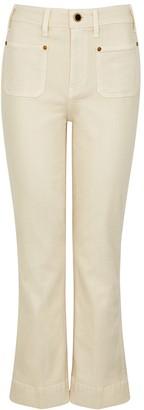 KHAITE Raquel Ivory Kick-flare Jeans