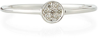 Sydney Evan Tiny Pave Diamond Disc Ring