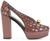 Pollini crocodile-effect pumps