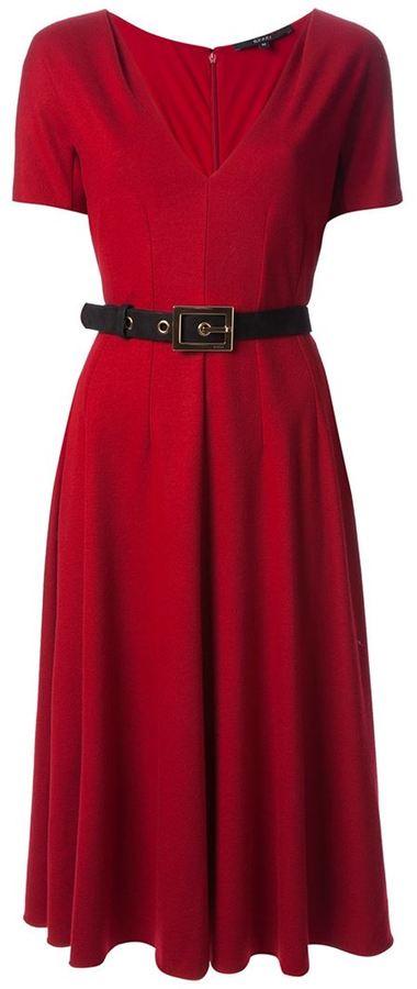 Gucci pleated v-neck dress
