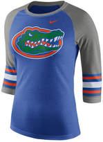 Nike Women's Florida Gators Team Stripe Logo Raglan T-Shirt