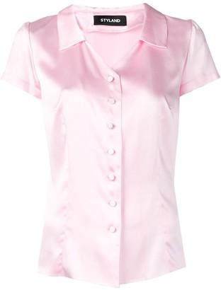 Styland Sheen Button Shirt