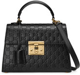 Gucci Padlock Signature top handle bag - women - Leather/metal/Microfibre - One Size