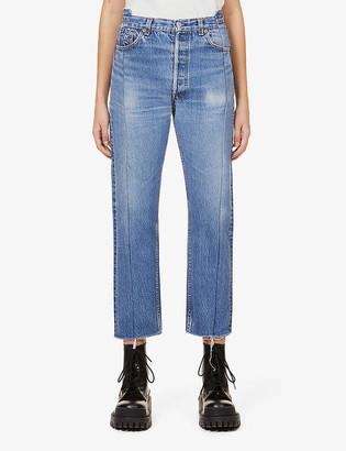 Eb Denim Upcycled OG Reinvented straight-leg high-rise jeans