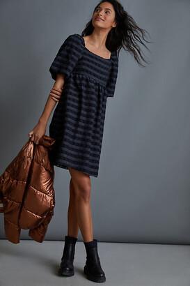Anthropologie Marla Flounced Mini Dress By in Black Size XS