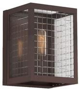 Home Decorators Collection 1-Light Oil-Rubbed Bronze Sconce with Etched Clear Glass Shades
