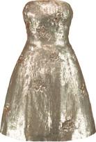 Oscar de la Renta Sequinned silk mini dress