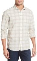 Billy Reid Standard Fit Plaid Linen Sport Shirt