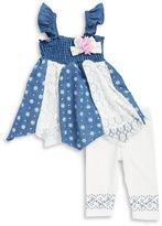 Nannette Baby Girls Baby Girls Smocked Dress and Leggings Set