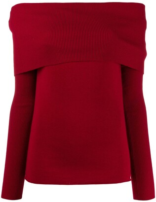 Romeo Gigli Pre-Owned 1990s Off-The-Shoulders Knitted Top