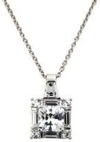 Diamonique 2.50 cttw Princess Cut Pendant, Platinum Clad