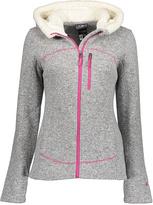 CB Sports Gray Heather Sherpa-Hood Sweater Fleece Jacket