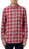 Topman Buffalo Check Flannel Shirt