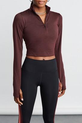 Splits59 Stevie Active Rib Half Zip Sweatshirt