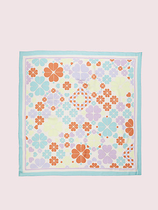 Kate Spade Spade Clover Patchwork Square Scarf