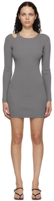Helmut Lang Grey Ring Dress