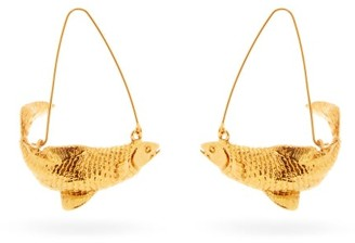 Givenchy Pisces Zodiac Hoop Earrings - Womens - Gold