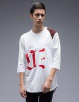 Facetasm Patchwork Reglan L/S T-Shirt