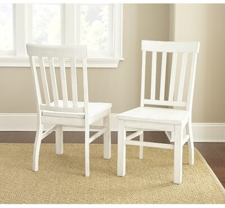 Highland Dunes Duclos Solid Wood Slat Back Side Chair Color: Antique White