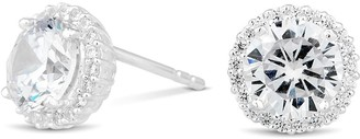 Simply Silver Sterling Silver 925 Halo Studs