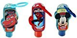 Disney Hand Sanitizer 2 Oz with Backpack Clip - 1 X Cars 1 X Mickey Mouse and 1 X Spiderman