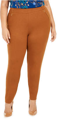 Calvin Klein Plus Size Pull-On Zippered-Pocket Pants