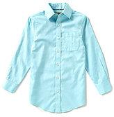 Class Club Gold Label Big Boys 8-20 Long-Sleeve Textured Woven Dress Shirt