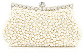 Kate Landry Full Pearl Frame Clutch