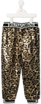 Dolce & Gabbana leopard print embellished trousers