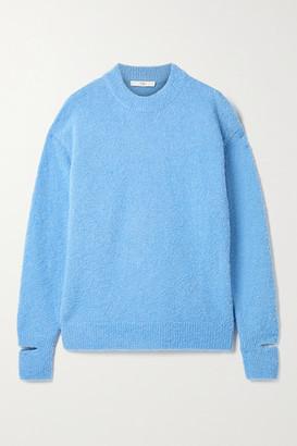 Tibi Alpaca-blend Boucle Sweater - Blue