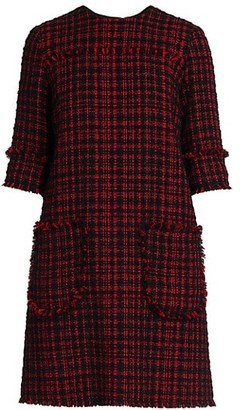 Dolce & Gabbana Tweed Two Pocket Shift Dress