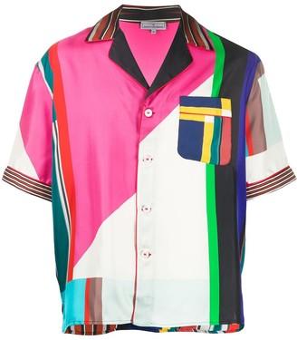 Pierre Louis Mascia colour-block silk shirt